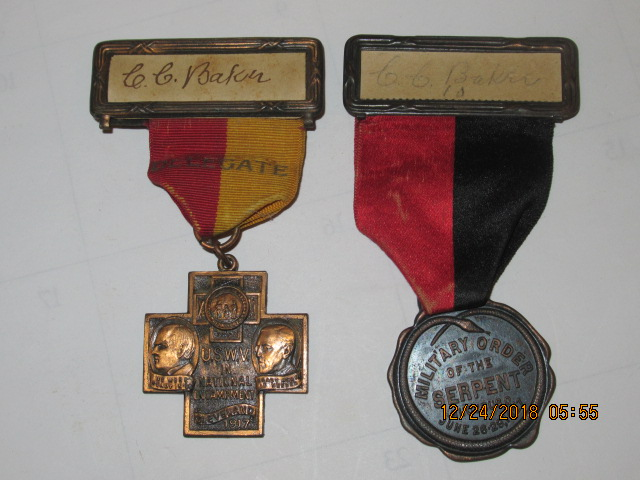 SPANISH AMERICAN WAR VETERANS MEDALS - Click Image to Close