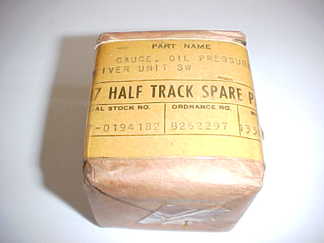 G147 HALF TRACK OIL PRESSURE GAGE, NOS WWII - Click Image to Close